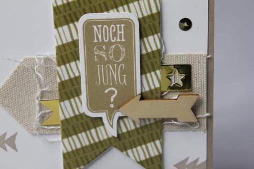 Geburtstagskarte Pfeile, Bild2, gebastelt mit Produkten von Stampin\' Up!