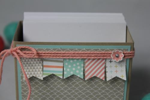 Zettelbox/Sale-A-Bration, Bild 2, gebastelt mit Produkten von Stampin\' Up