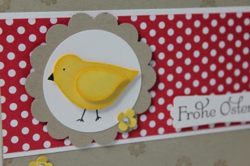 Osterkarte mit Vogelstanze, Bild2, gebastelt mit Stampin\' Up! Produkten.