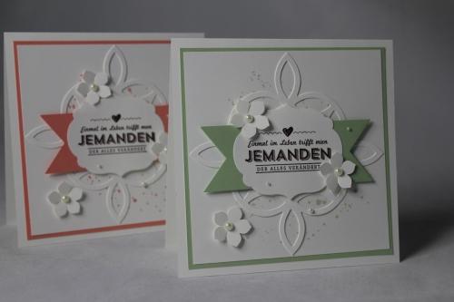 Hochzeitskarte Elegantes Gitter, Bild 1, gebastelt mit Stampin\' Up! Produkten.