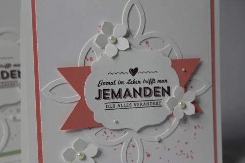 Hochzeitskarte Elegantes Gitter, Bild 2, gebastelt mit Stampin\' Up! Produkten.
