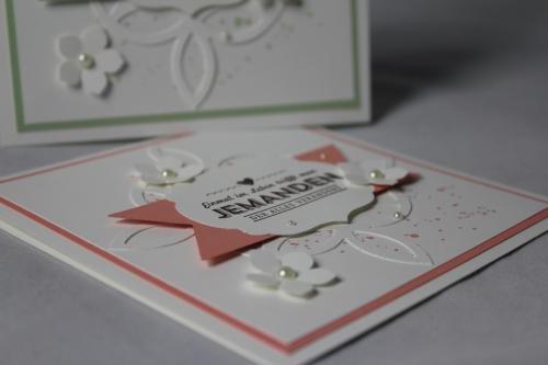 Hochzeitskarte Elegantes Gitter, Bild 3, gebastelt mit Stampin\' Up! Produkten.