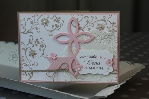 Konfirmationskarte Elegantes Gitter, Bild1, gebastelt mit Produkten von Stampin\' Up!.