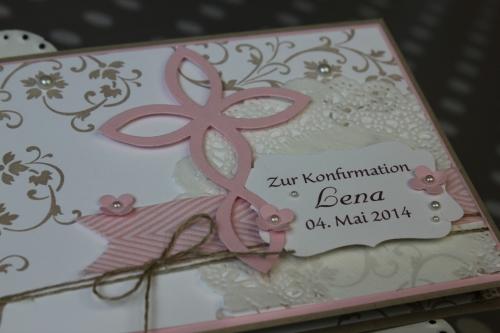 Konfirmationskarte Elegantes Gitter, Bild2, gebastelt mit Produkten von Stampin\' Up!.