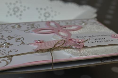 Konfirmationskarte Elegantes Gitter, Bild3, gebastelt mit Produkten von Stampin\' Up!.
