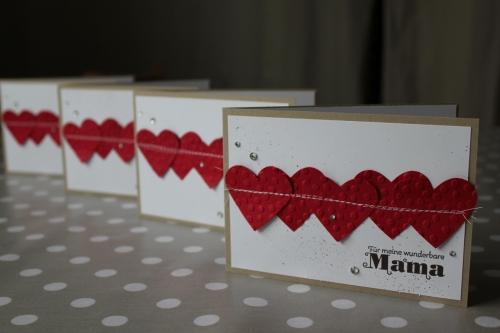 Karte zum Muttertag/genähtes Herz, Bild1, gebastelt mit Produkten von Stampin\' Up!