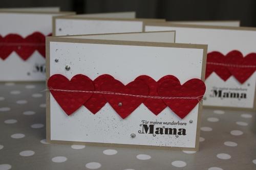 Karte zum Muttertag/genähtes Herz, Bild2, gebastelt mit Produkten von Stampin\' Up!