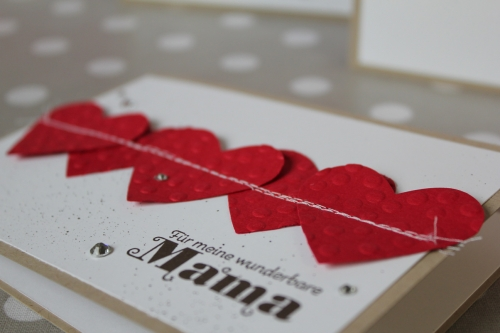 Karte zum Muttertag/genähtes Herz, Bild3, gebastelt mit Produkten von Stampin\' Up!