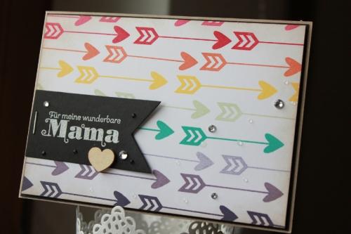 Karte zum Muttertag/Pfeile, gebastelt mit Produkten von Stampin\' Up!