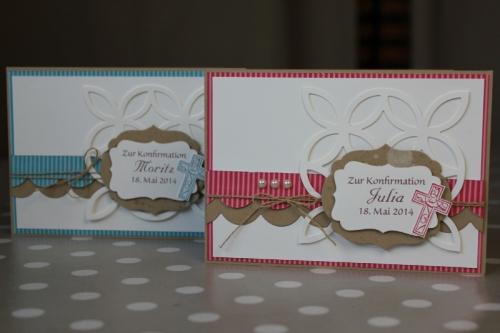 Konfirmationskarte mit Wellenbordüre, Bild 1, gebastelt mit Produkten von Stampin\' Up!