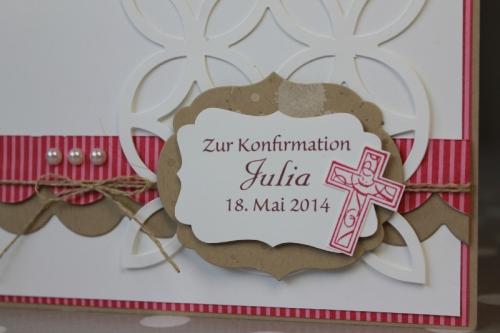 Konfirmationskarte mit Wellenbordüre, Bild 2, gebastelt mit Produkten von Stampin\' Up!