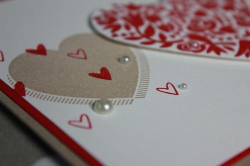 Hochzeitskarte, Flowerfull Heart, Bild2, gebastelt mit Produkten von Stampin\' Up!