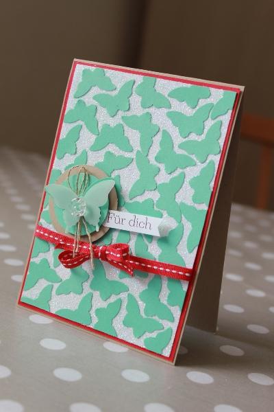 Schmetterlingskarte, Bild1, gebastelt mit Produkten von Stampin\' Up!