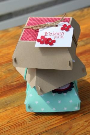 Hamburger-Schachtel Glutrot, Bild1, gebastelt mit Produkten von Stampin\' Up!