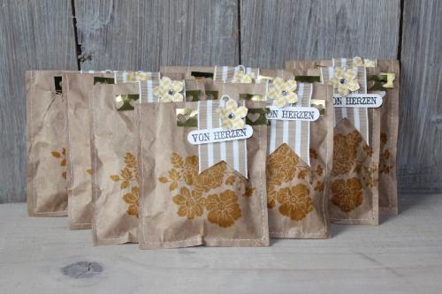 Packpapiertüten, Bild1, gebastelt mit Produkten von Stampin\' Up!