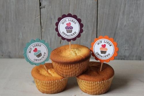 Muffinspieße, Bild1, gebastelt mit Materialien von Stampin\' Up!