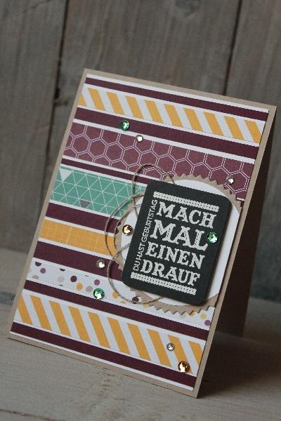 Restekarte aus Streifen, Bild1, gebastelt mit Materialien von Stampin\' Up!