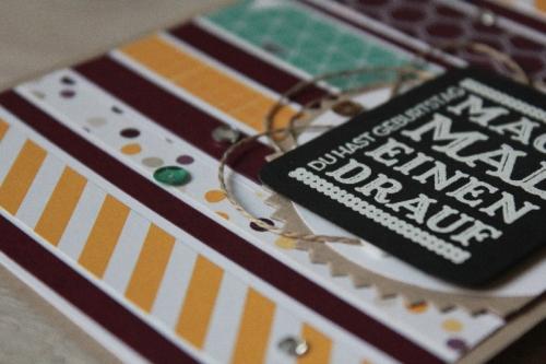 Restekarte aus Streifen, Bild3, gebastelt mit Materialien von Stampin\' Up!