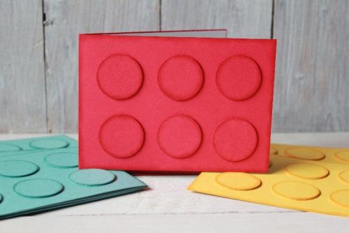 Legostein-Karte, Bild1, gebastelt mit Materialien von Stampin\' Up!
