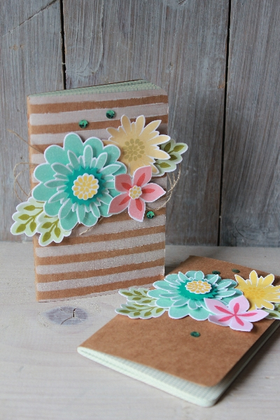 Notizbuch Flower Patch, Bild1, gebastelt mit Materialien von Stampin\' Up!
