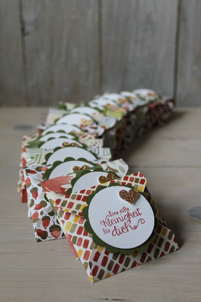 Punchboard Verpackung im Herbstlook, Bild1, gebastelt mit Produkten von Stampin\' Up!