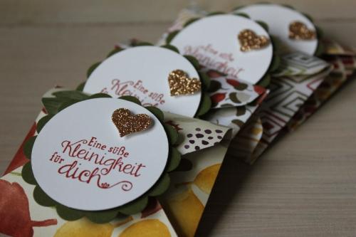 Punchboard Verpackung im Herbstlook, Bild3, gebastelt mit Produkten von Stampin\' Up!