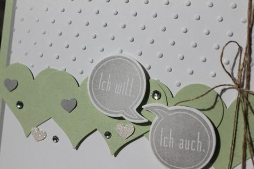 Hochzeitskarte Pistazie, Bild2, gebastelt mit Produkten von Stampin\' Up!