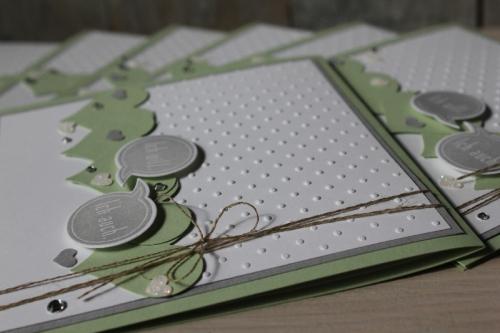 Hochzeitskarte Pistazie, Bild3, gebastelt mit Produkten von Stampin\' Up!