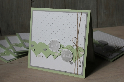Hochzeitskarte Pistazie, Bild1, gebastelt mit Produkten von Stampin\' Up!