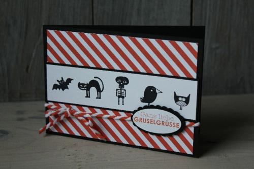 Halloweenkarte Freaky Friends, Bild1, gebastelt mit Produkten von Stampin\' Up!
