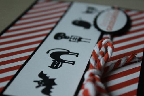 Halloweenkarte Freaky Friends, Bild2, gebastelt mit Produkten von Stampin\' Up!