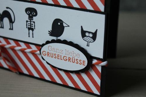 Halloweenkarte Freaky Friends, Bild3, gebastelt mit Produkten von Stampin\' Up!