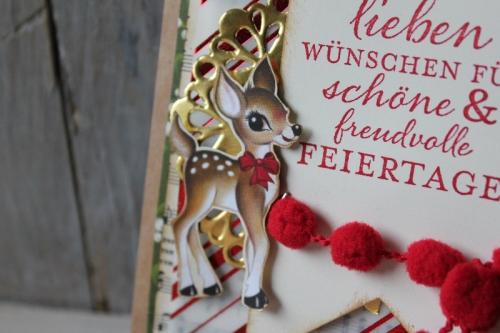Weihnachtskarte Heimelige Weihnachten, Bild3, gebastelt mit Produkten von Stampin\' Up!