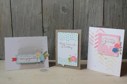 Kartenset Malerische Grüße, Bild1, gebastelt mit Produkten von Stampin\' Up!