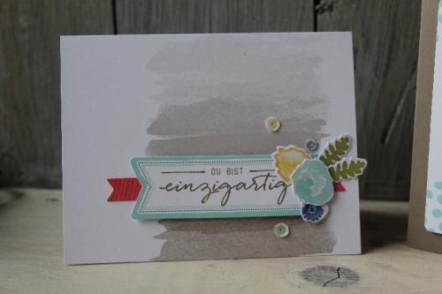 Kartenset Malerische Grüße, Bild2, gebastelt mit Produkten von Stampin\' Up!