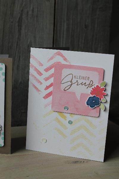 Kartenset Malerische Grüße, Bild4, gebastelt mit Produkten von Stampin\' Up!