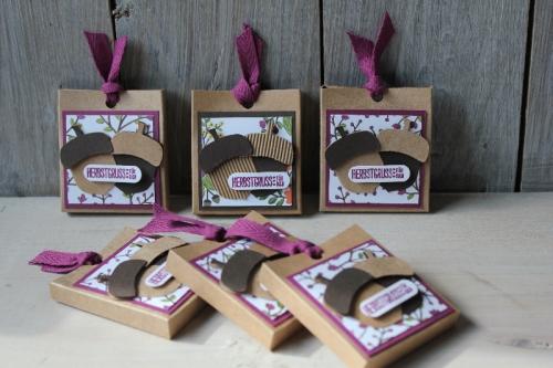 Rittersport Verpackung Eichel, Bild1, gebastelt mit Produkten von Stampin\' Up!