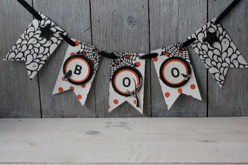 Halloween-Girlande, Bild1, gebastelt mit Produkten von Stampin\' Up!