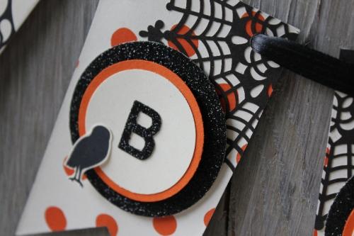 Halloween-Girlande, Bild4, gebastelt mit Produkten von Stampin\' Up!