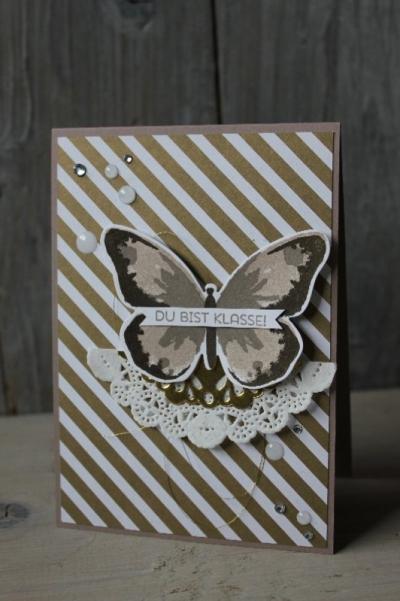 Schmetterlingskarte DU bist Klasse, Bild1, gebastelt mit Produkten von Stampin\' Up!