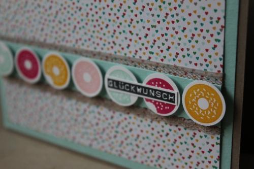 Donutkarte, Bild2, gebastelt mit Produkten von Stampin\' Up!
