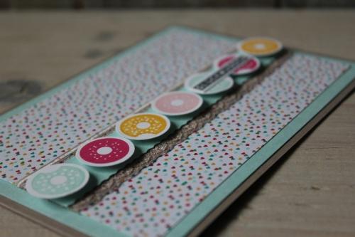 Donutkarte, Bild3, gebastelt mit Produkten von Stampin\' Up!