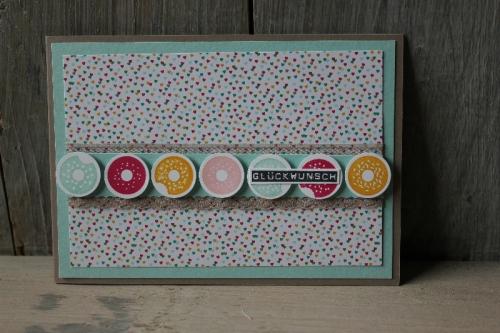 Donutkarte, Bild1, gebastelt mit Produkten von Stampin\' Up!