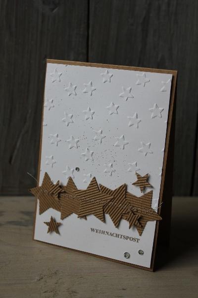 Weihnachtskarte Sterne, Bild1, gebastelt mit Produkten von Stampin\' Up!