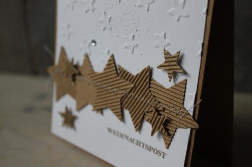 Weihnachtskarte Sterne, Bild2, gebastelt mit Produkten von Stampin\' Up!