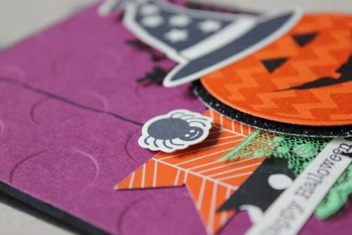 Halloweenkarte Kürbiskopf, Bild3, gebastelt mit Produkten von Stampin\' Up!