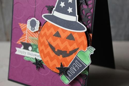 Halloweenkarte Kürbiskopf, Bild2, gebastelt mit Produkten von Stampin\' Up!