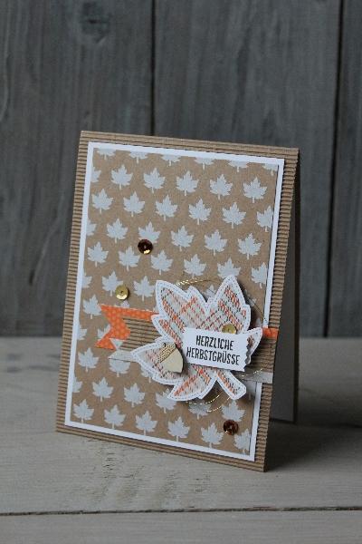Herbstkarte Project Life, Bild1, gebastelt mit Produkten von Stampin\' Up!