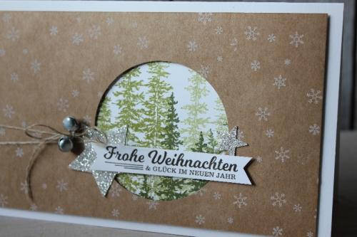 Weihnachtskarte Wonderland, Bild2, gebastelt mit Produkten von Stampin\' Up!