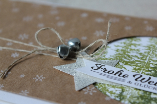 Weihnachtskarte Wonderland, Bild3, gebastelt mit Produkten von Stampin\' Up!